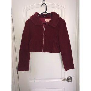 Showpo Fuzzy Cropped Jacket